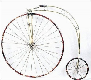 """This stylized High Wheeler or """"Penny-farthing"""" will be an interesting conversation piece"""