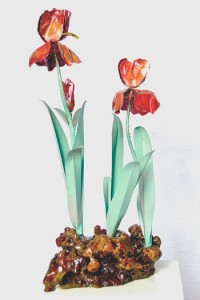 Red Iris Table Sculpture (Large)