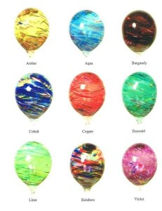 Our balloon color options