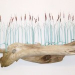 Cattails on Driftwood (2)