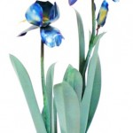 Blue Iris Table Sculpture (Large)