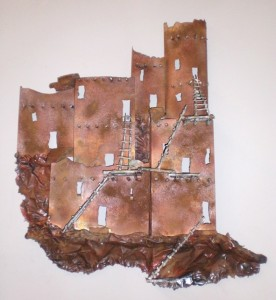 Pueblo Copper Wall