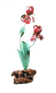 Red Iris Table Sculpture (Small)