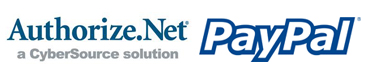 Secure checkout using Authorize.net and Paypal